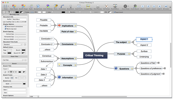 mind mapping brainstorming software mac